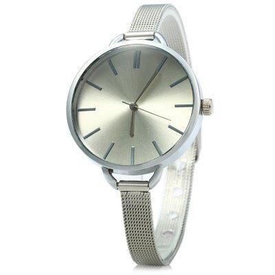 168530915 MILER A8286 dámské značkové Quartz hodinky, stříbrná - bílá