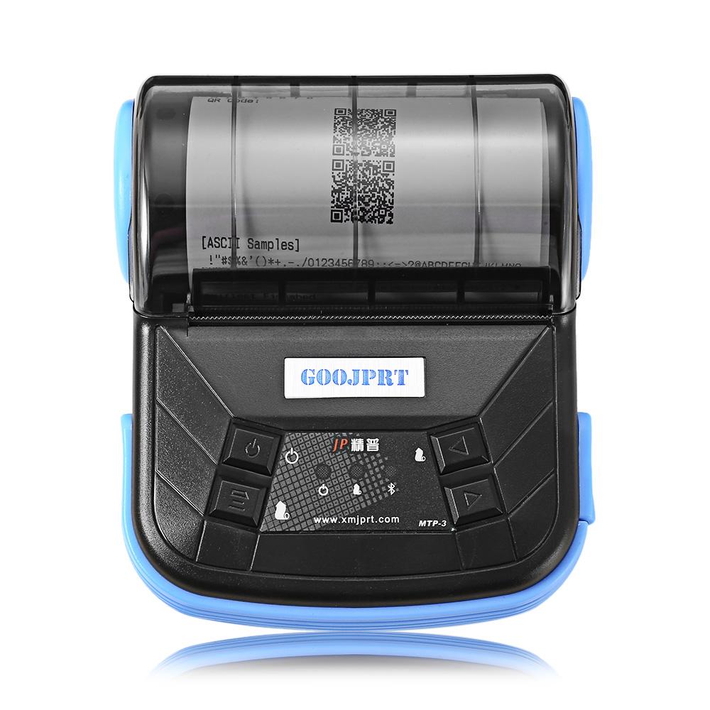 JPrinter - MTP- III, 80mm mobilní mini přenosná tepelná tiskárna Android, Windows, IOS, Bluetooth 2.0 tiskárna, černá