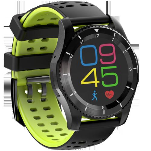 NO.1 F5 Outdoor hodinky IP67, GPS, Bluetooth,krokoměr,monitor spánku, tepová frekvence, černá-zelená