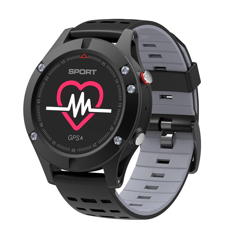 NO.1 F5 Outdoor hodinky IP67, GPS, Bluetooth,krokoměr,monitor spánku, tepová frekvence, černá-šedá