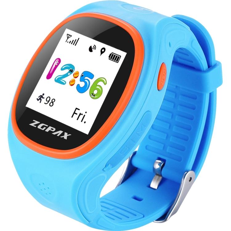 """ZGPAX S866A chytré dětské hodinky, GPS, 1,22"""" displej IPS, SOS volání,krokoměr, modrá"""