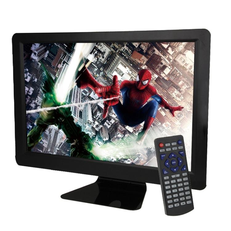 Generic NS-1548, 15,6-palcový LCD displej, HD LED digitální multimediální přenosný televizor s přehrávačem EVD, černá