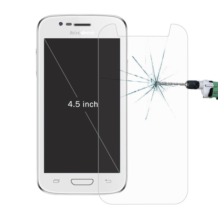 """Univerzální ochranné sklo pro mobilní telefony s obrazovkou 4,5"""", 2,5 D"""