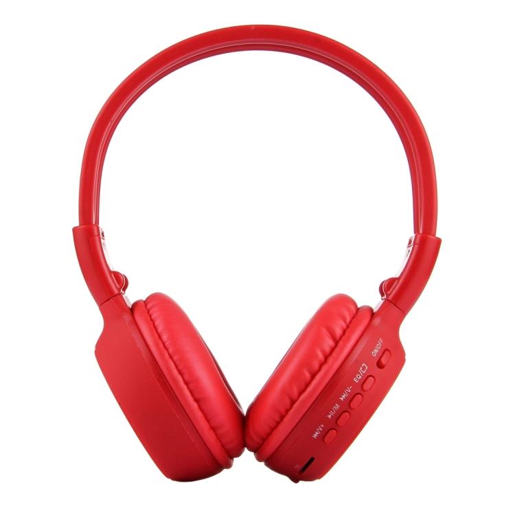 Zealot® BS-N65, Skládací stereo Hi-Fi Bezdrátová WiFi sluchátka s LCD obrazovkou, červená
