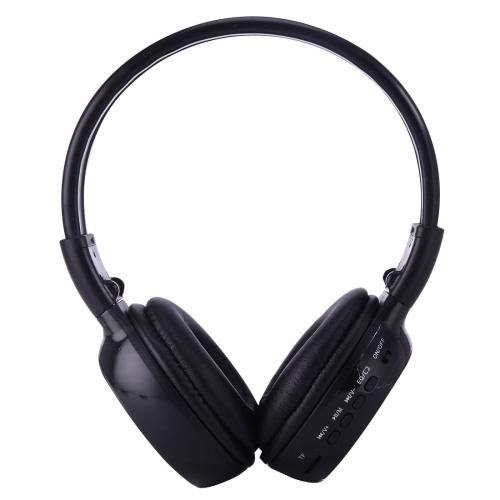 Zealot® BS-N65, Skládací stereo Hi-Fi Bezdrátová WiFi sluchátka s LCD obrazovkou, černé