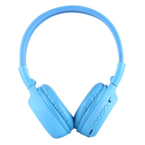 Zealot® BS-N65, Skládací stereo Hi-Fi Bezdrátová WiFi sluchátka s LCD obrazovkou, modré