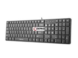 Natec Keyboard STARFISH 2 SLIM MULTIMEDIA BLACK USB US Layout